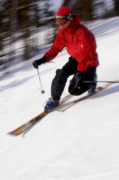 Mathias skiing in Sweden, 2004