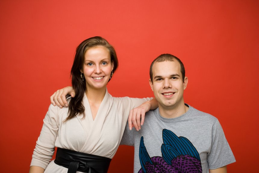 Portrait of Niklas Stephenson and his PA Nina Seidenfaden